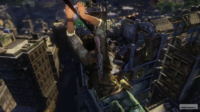 uncharted 3 how to hit with fish