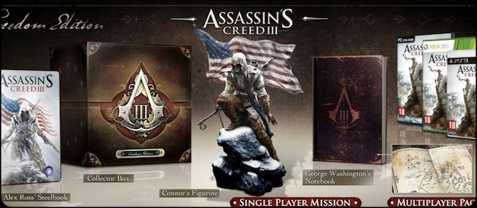 Assassin's creed iii pre-order bonuses detailed.