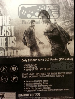 The Last Of Us Season Pass Includes DLC Packs With More Story - The last of us dlc maps