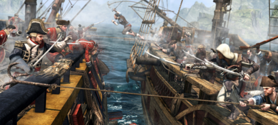 assassinscreedivblackflagboatbattle