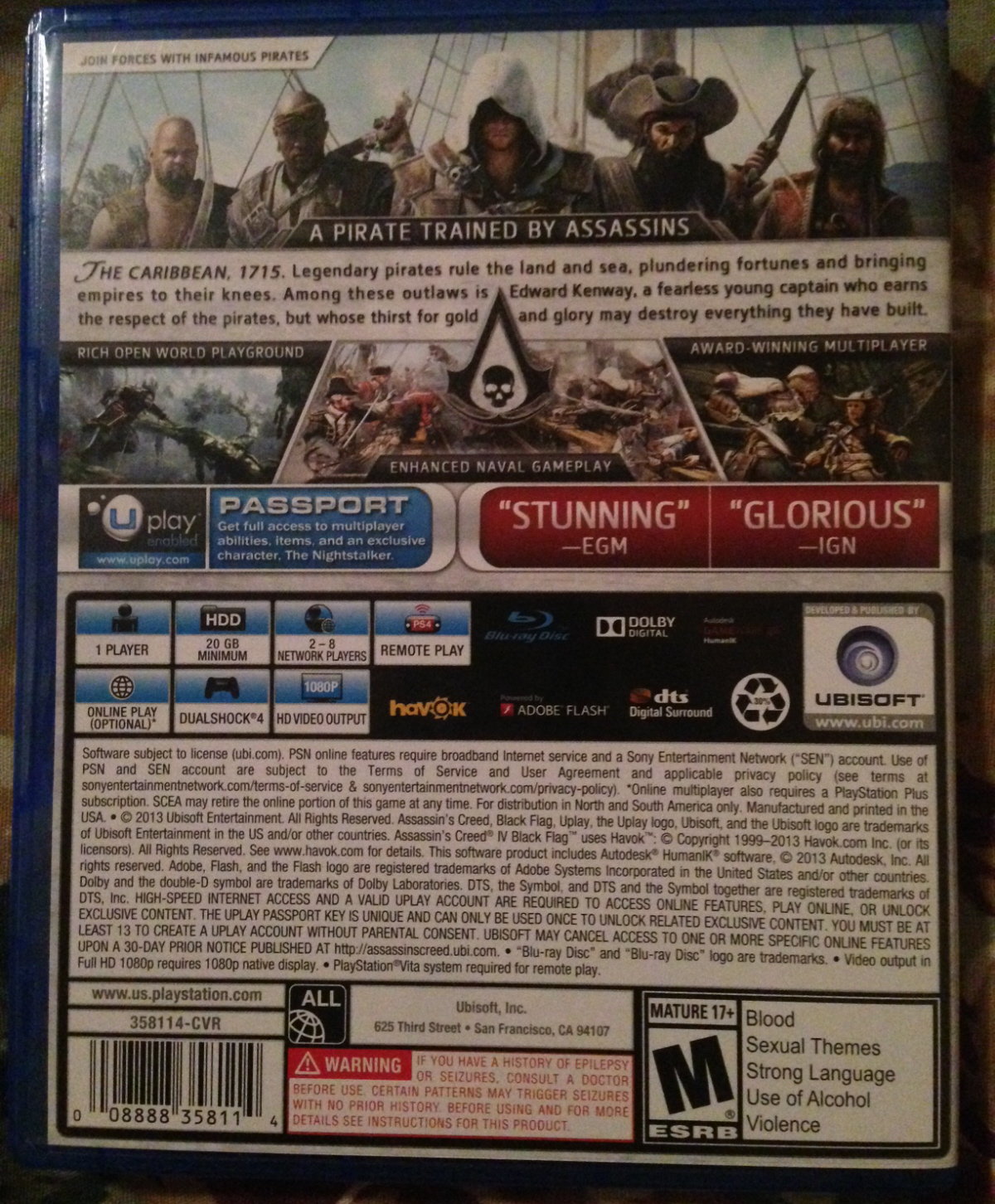 Ps4 Install Sizes For Battlefield 4 Assassin S Creed Iv Black
