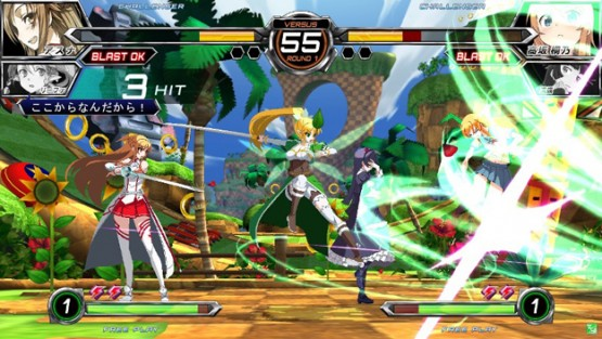 Dengeki_Bunko_Fighting_Climax_Green_Hill_Zone