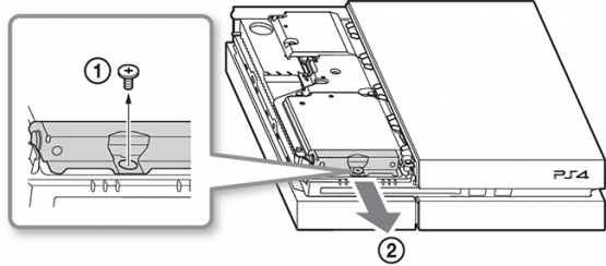 remove PS4 disc stuck in tray