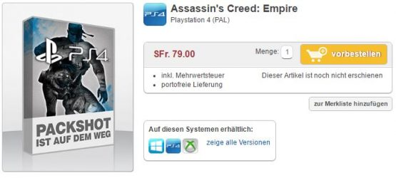 assassins creed empire listing