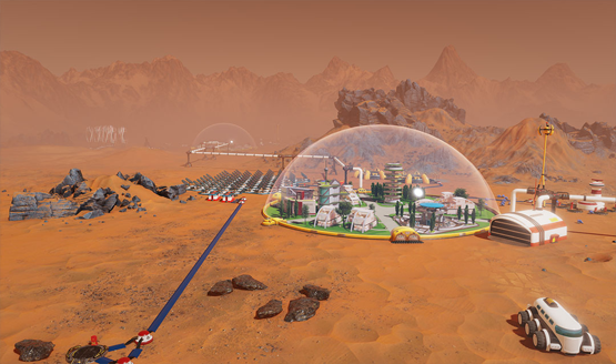 Surviving Mars gameplay