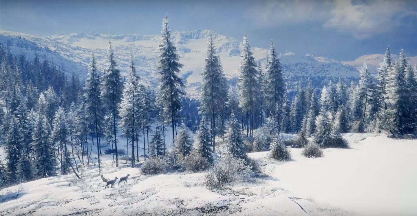 new thehunter call of the wild dlc features winter hunting