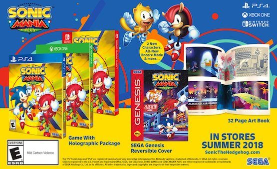 Sonic Mania Is Getting A Physical Release With New Characters