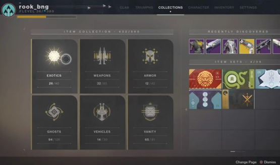 Destiny 2 collections