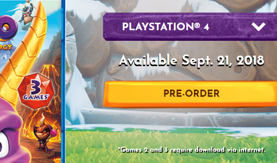 Spyro Reignited Trilogy Only Has The First Game On Its Disc