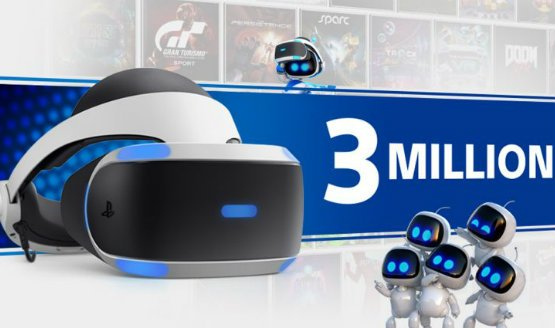 Sony Has Sold 3 Million PlayStation VR Systems