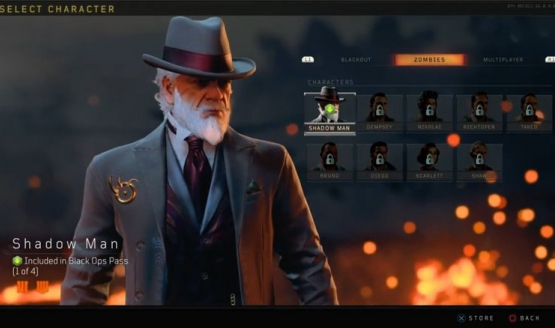 black ops pass blackout characters