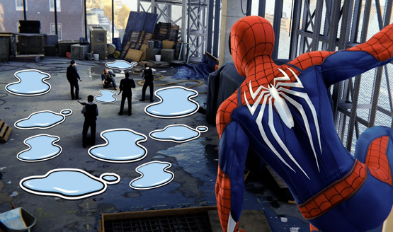 Spider-Man PS4 Puddle Stickers