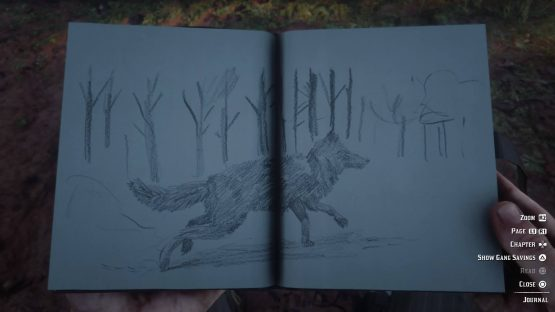 Red Dead Redemption 2's Arthur Morgan leaves detailed notes and sketches in his journal.
