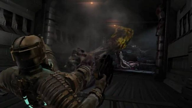 Dead space video game developer commentary tentacle drag