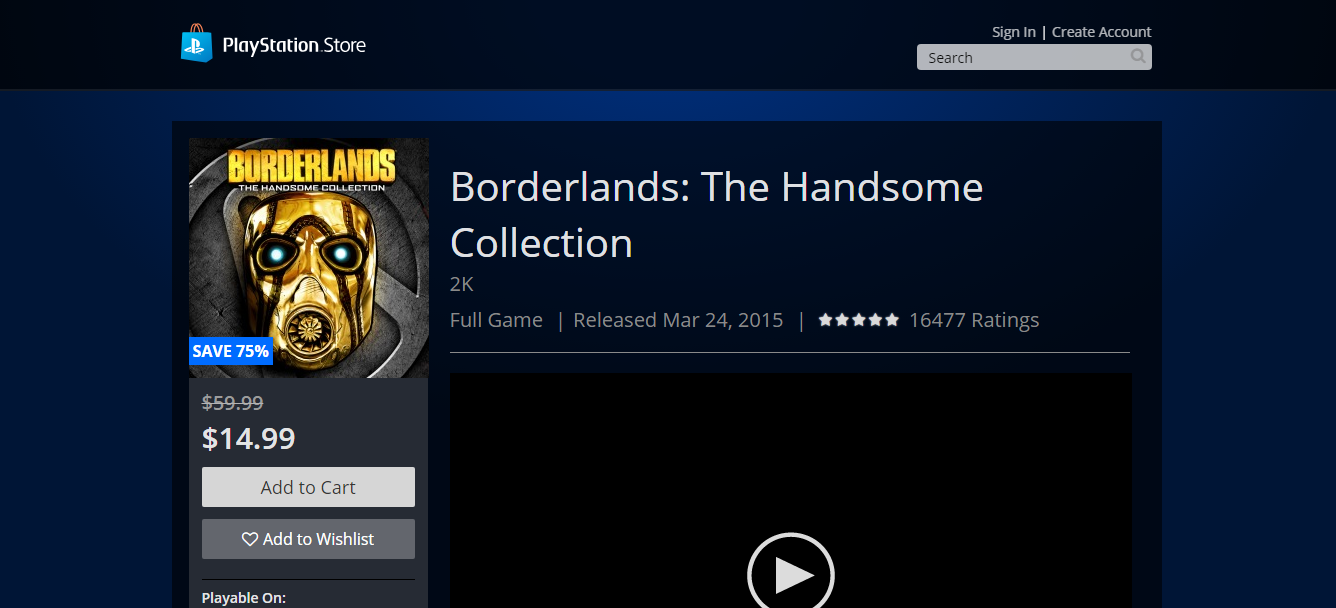 Get Borderlands: The Handsome Collection for 75% Off
