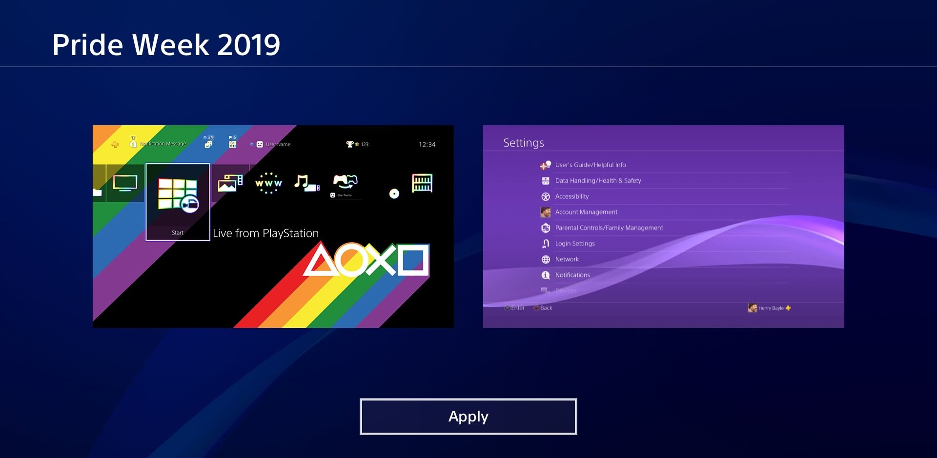 Grab This Free Pride Theme For Your PlayStation 4