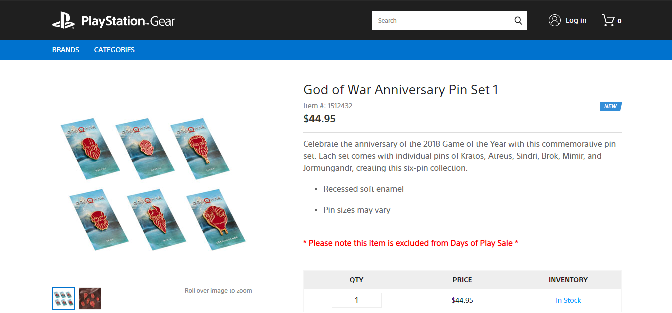 Check out These God of War Anniversary Pins