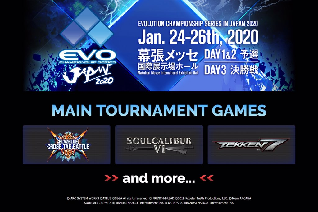 EVO Japan 2020 Main Tournament Games Lineup Revealed