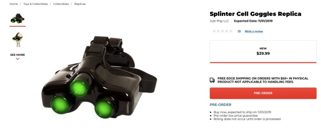 splinter cell goggles replica