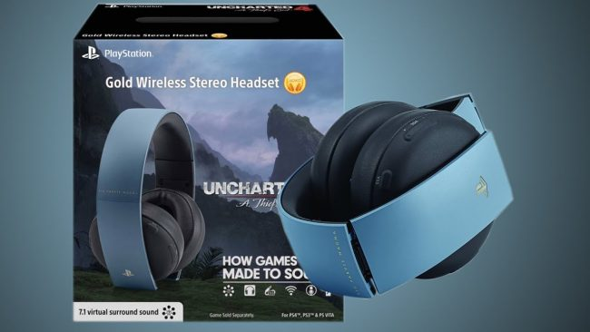 Uncharted PS4 Gold Headset