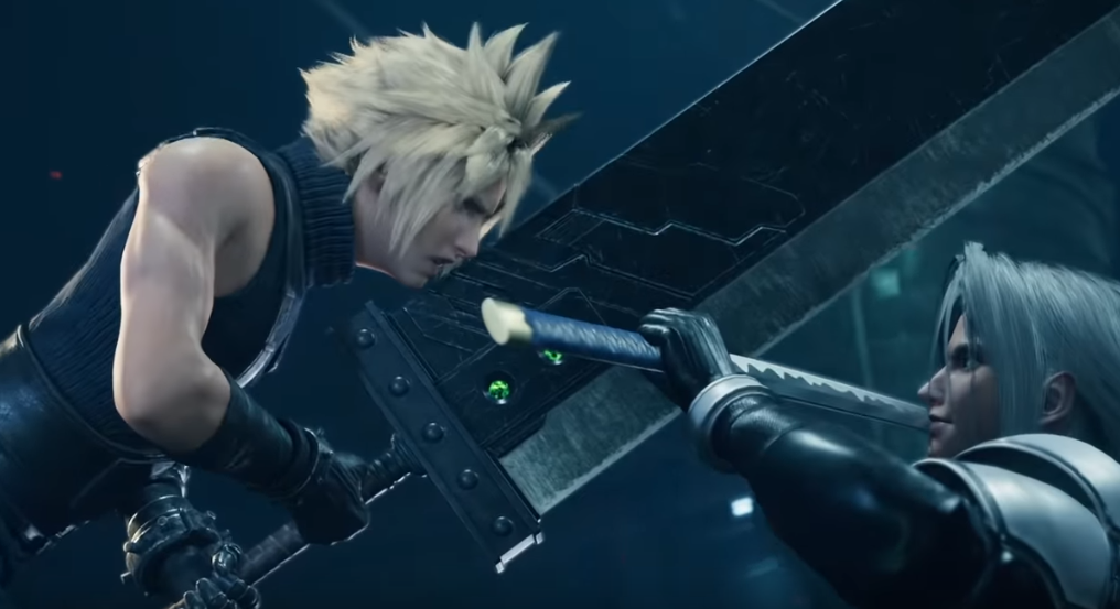 Final Fantasy VII remake cloud and sephiroth