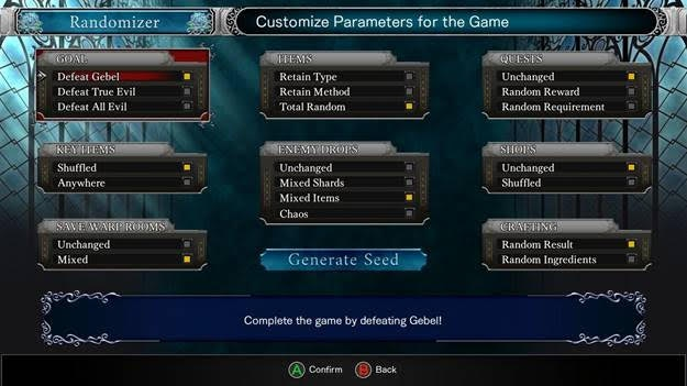 bloodstained ritual of the night roguelike