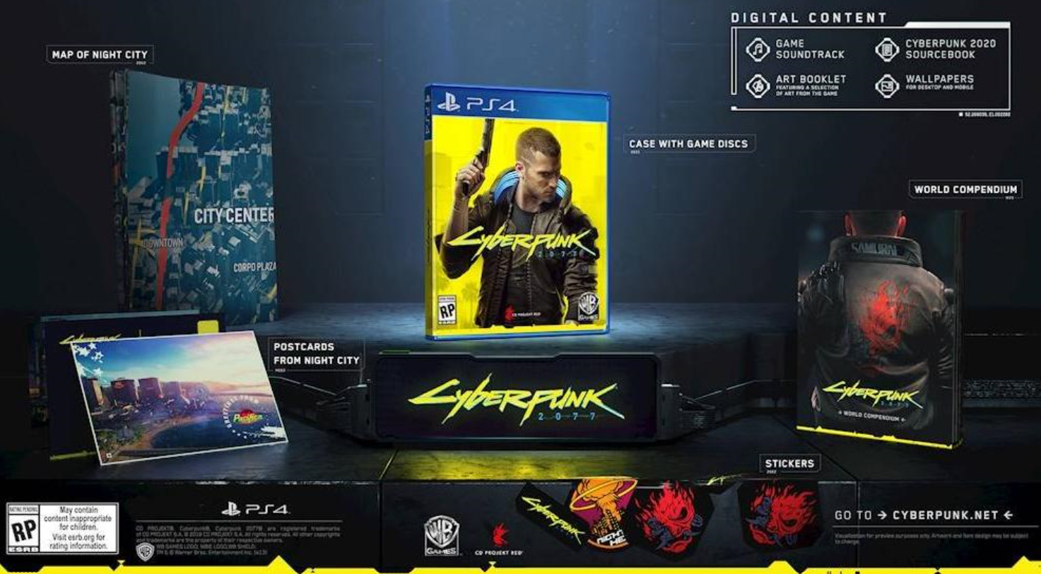 Cyberpunk 2077 preorder physical goodies