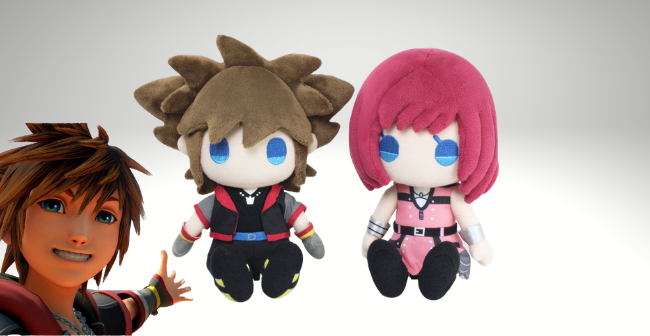 kingdom hearts iii plushies sora kairi