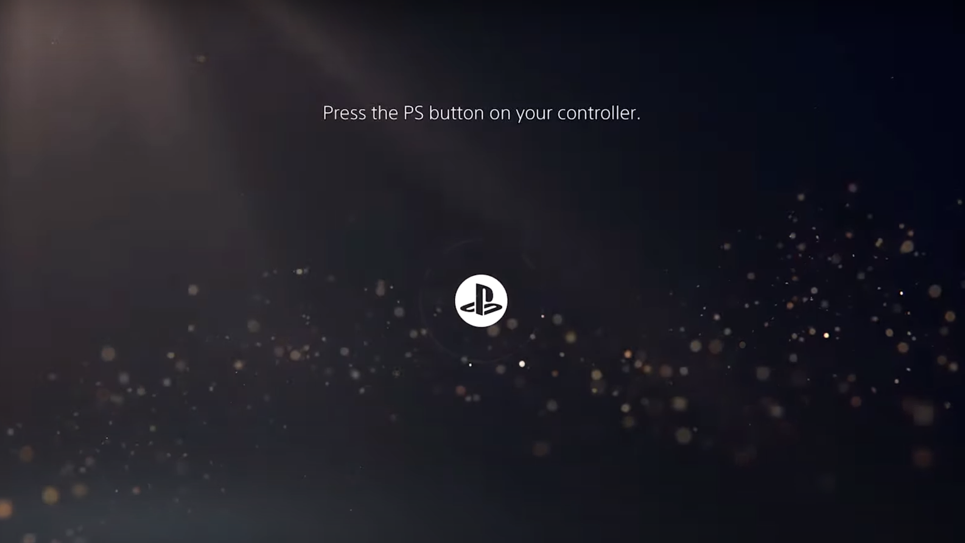 PS5 startup screen UI
