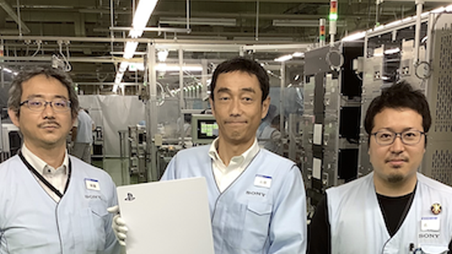 playstation 5 ps5 factory production line image
