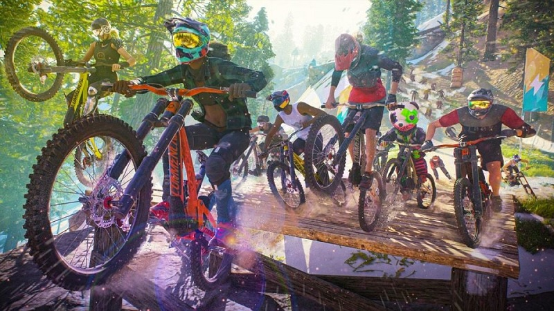 Riders Republic is a insane  50 Player Online Multiplayer Outdoor Sports Game