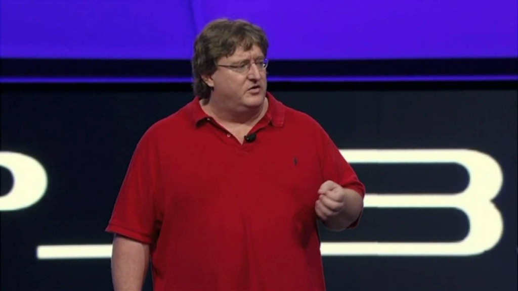 Valve Chief Gabe Newell Swings By Sony