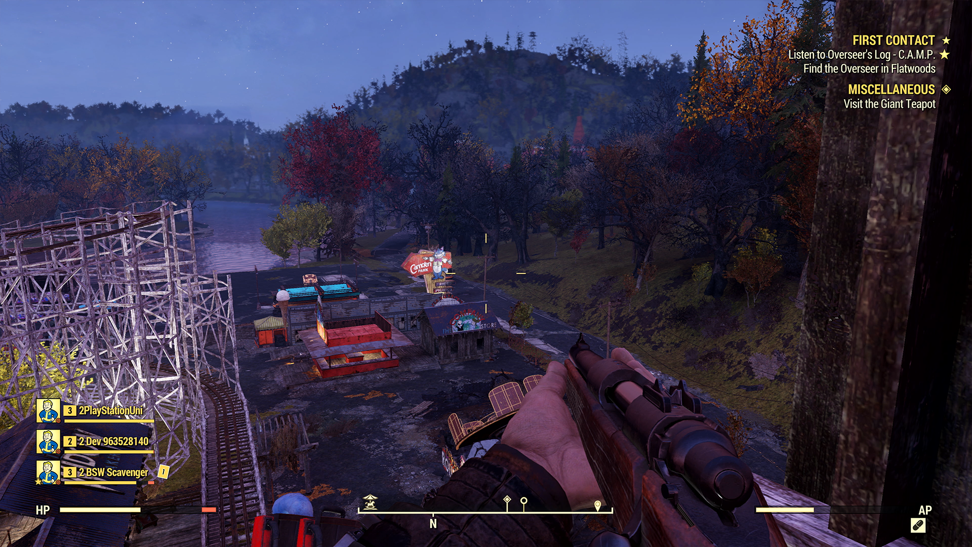 Fallout 76 Camden Park and Beckley, WV