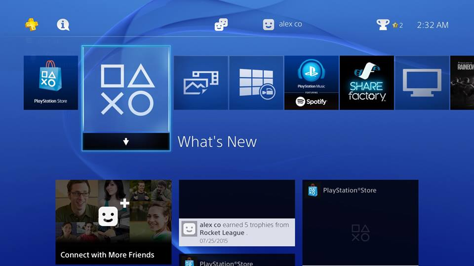 Log online and go to your PS4 dashboard