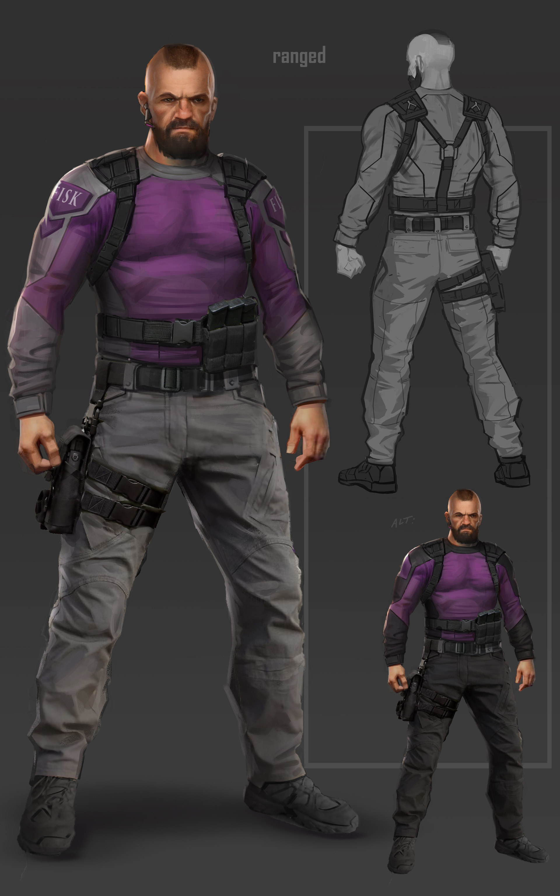 Spiderman - Fisk Security Guard Concept