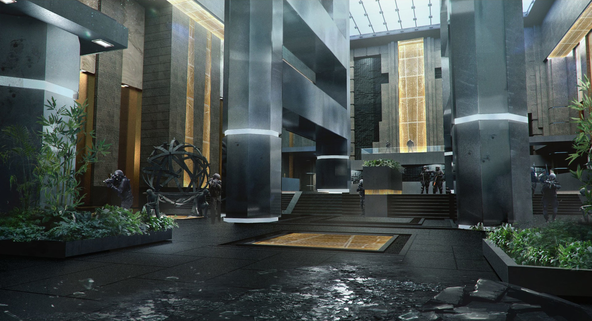 Spiderman - Fisk Tower Lobby Concept