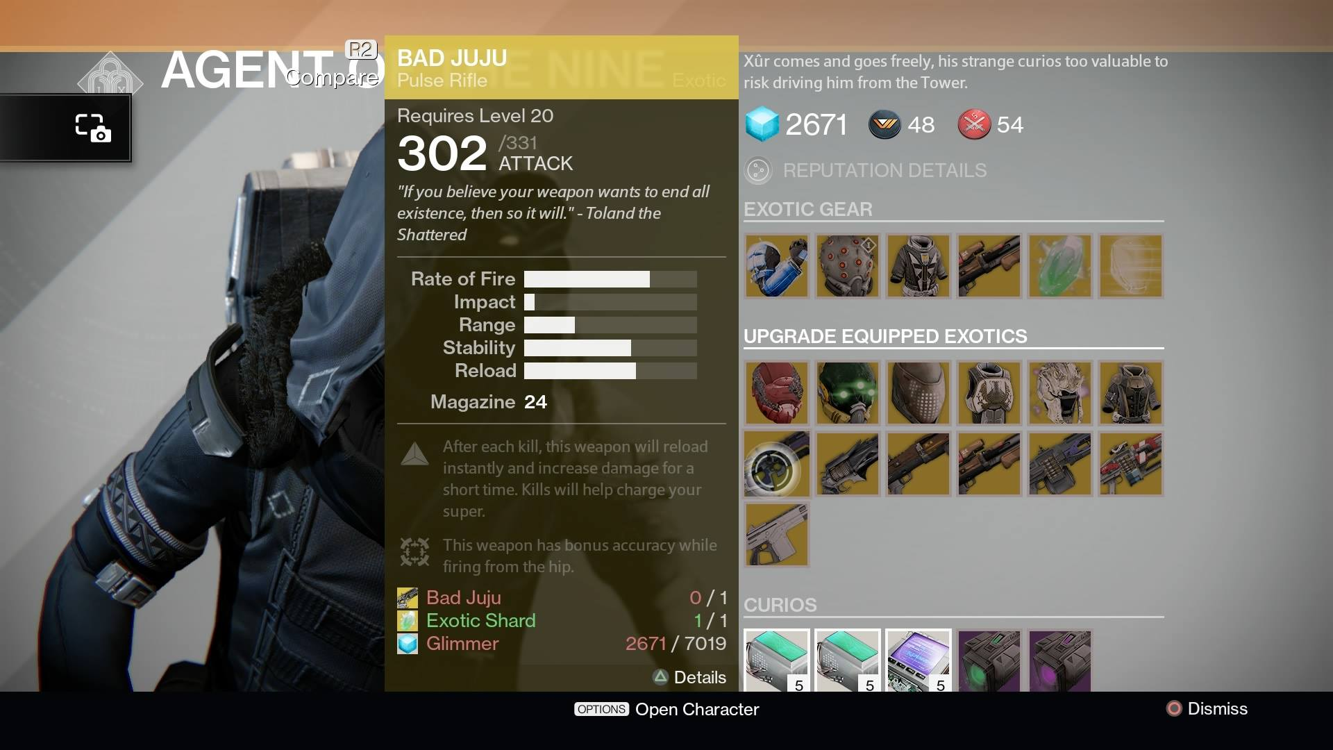 destiny xur location and items for february 27 2015. Black Bedroom Furniture Sets. Home Design Ideas