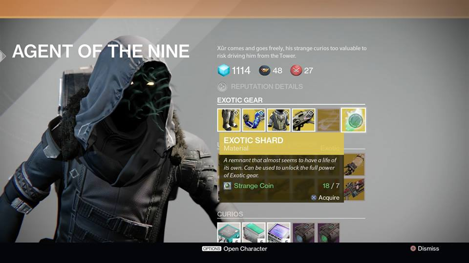 Destiny Xur Location And Items For January 30 2015